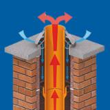 System kominowy Leier izolowany.